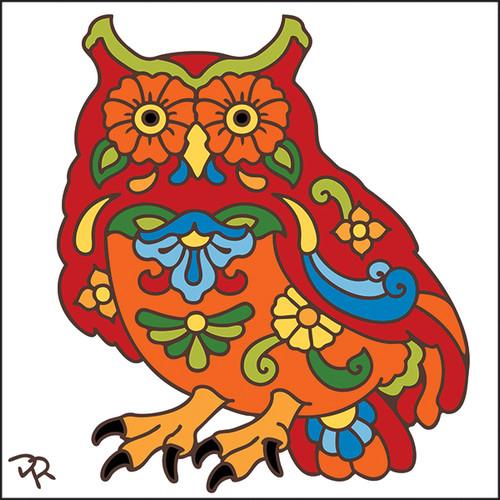 6x6 Tile Talavera Owl White 8007W
