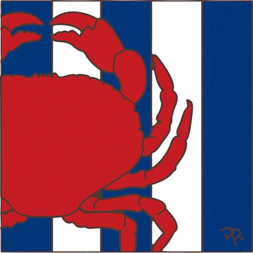 6x6 Tile Nautical Crab 8083A