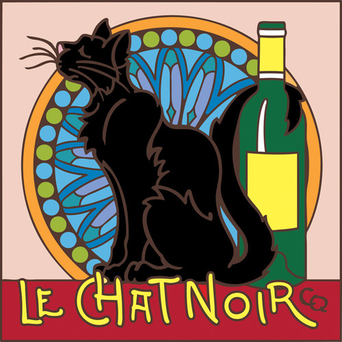 6x6 Tile La Chat Noir