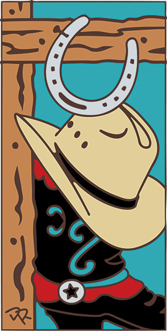 3x6 Tile Boot and Hat Turquoise 3023TQ