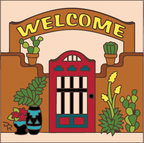 6x6 Tile Welcome Gate Sand 7701A