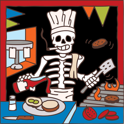 6x6 Tile Day of the Dead Short Order Cook 7967A
