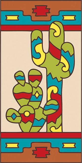 3x6 Tile Southwest Cactus Right
