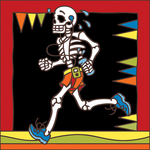 6x6 Tile Day of the Dead Jogger