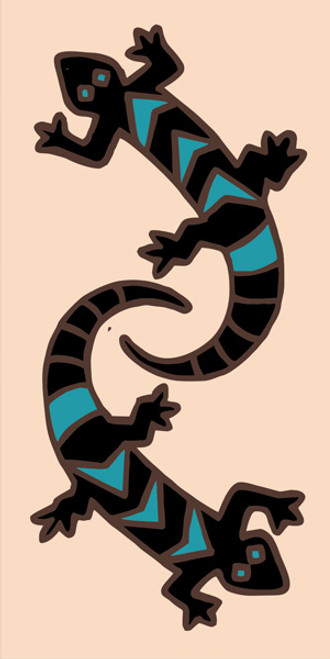 3x6 Tile Deco Gecko