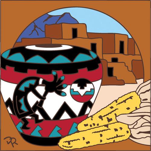 6x6 Tile Koko Pueblo Pottery 7902A