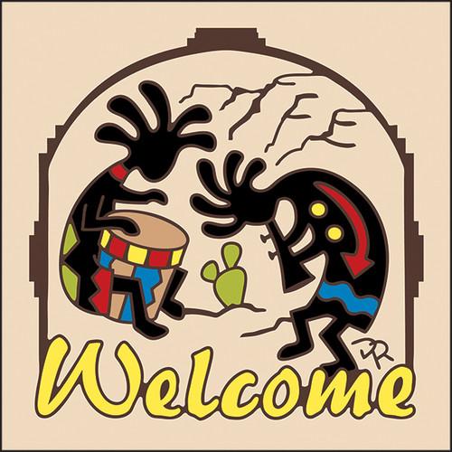 6x6 Tile Welcome Koko Musicians Sand 7956A