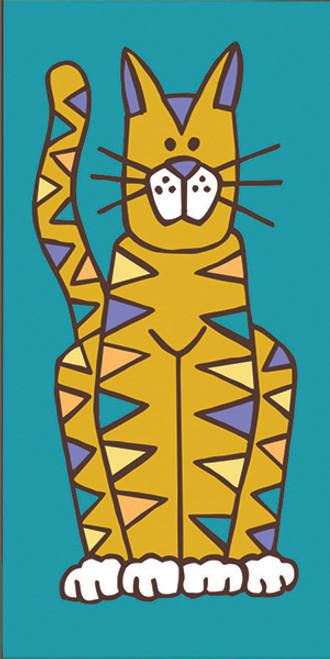 3x6 Cat Tile (Turquoise)