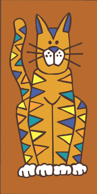 3x6 Cat Tile Brown