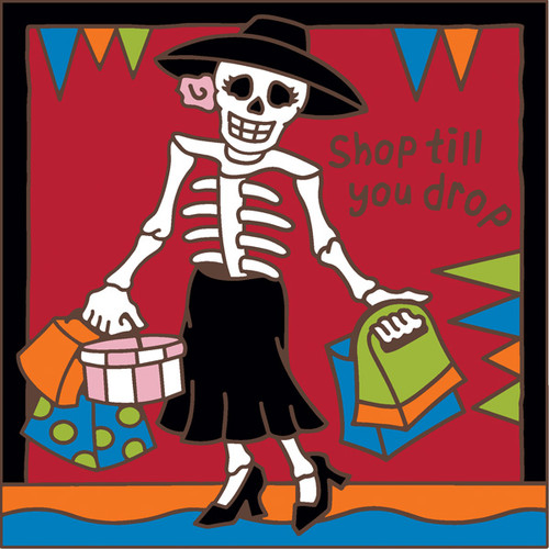 6x6 Tile Day of the Dead Shop til you Drop