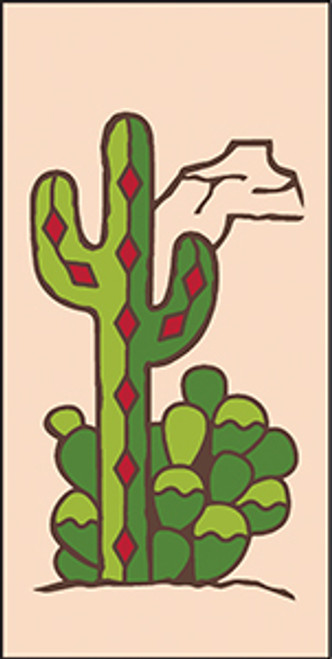 3x6 Tile Southwest Cactus Sand