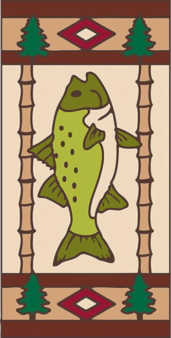 3x6 Tile Lodge Fish Left