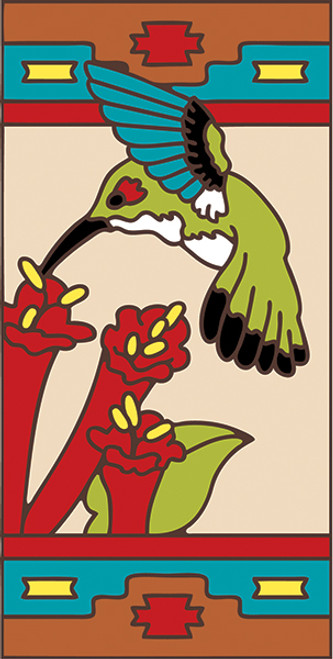 3x6 Tile Southwest Hummer Right