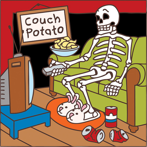 6x6 Tile Day of the Dead Couch Potato 7466A