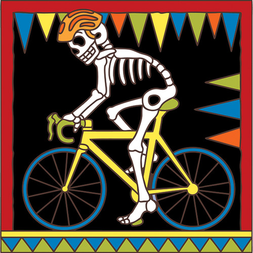 6x6 Tile Day of the Dead Cyclist