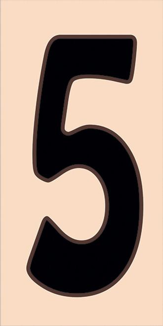 3x6 Tile House Number Sand #5