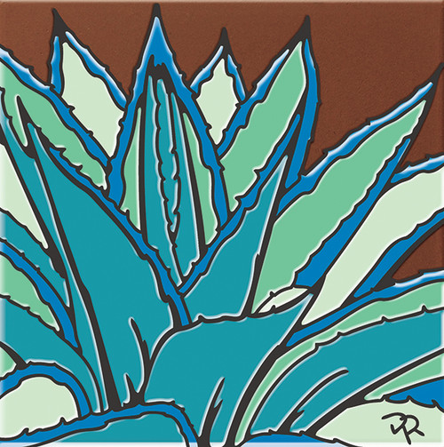 """6X6 Tile Agave Catus """"Naturals"""""""