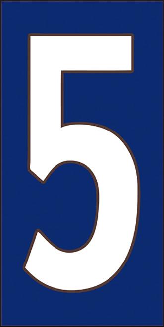33X6 Number 5 Cobalt Background