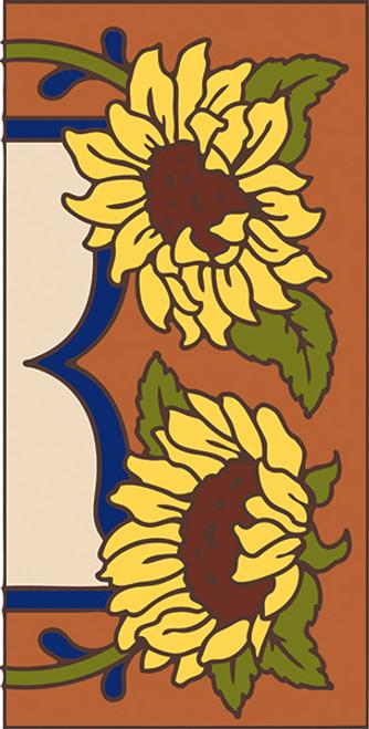 3x6 Tile Garden Sunflower Right