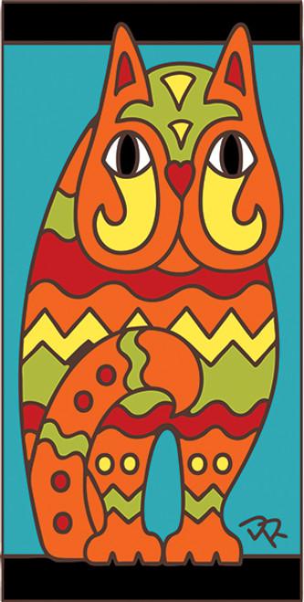 3x6 Tile Fancy Cat Turquoise 3017TQ