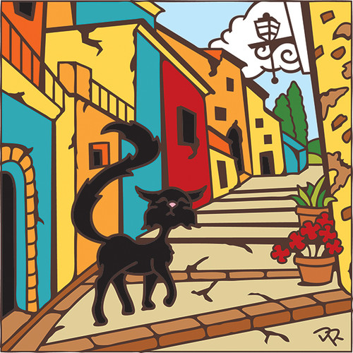 6x6 Tile Cat in Tuscany 7490A