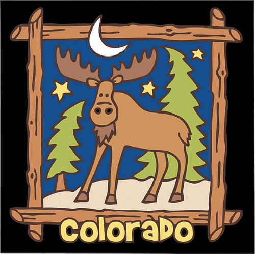 6x6 Tile Colorado Starry Night Moose