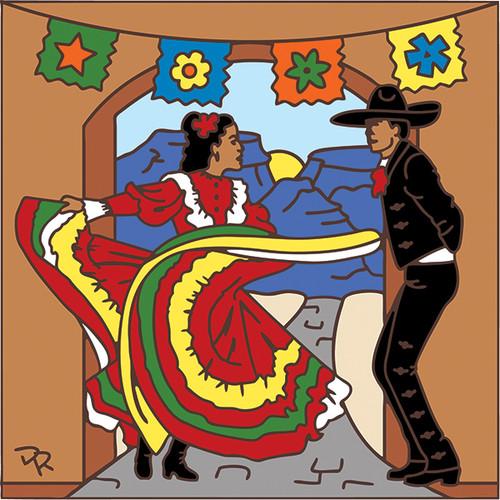 6x6 Tile Fiesta Dancers 7725A