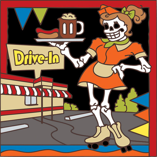 6x6 Tile Day of the Dead Waitress 7801A