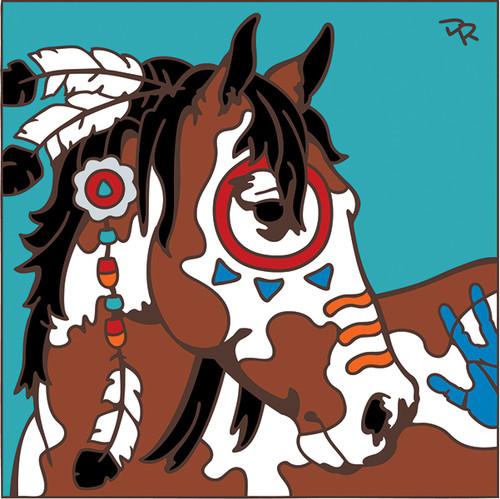 6x6 Tile War Pony/ Paint 7813A