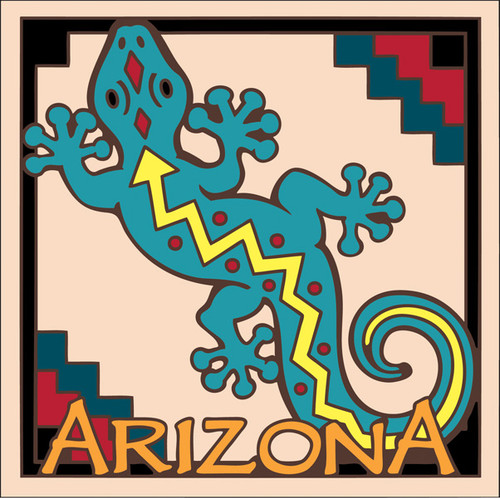6 x 6 Ceramic Designer Tile Arizona Cow Skull 7225A