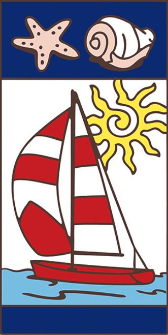3x6 Tile Nautical Sail Boat Right