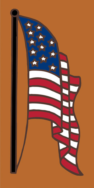 3x6 Tile American flag