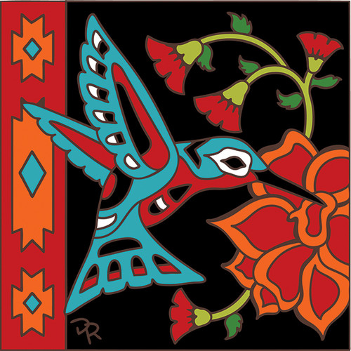 6x6 Tile Southwest Hummingbird 7857A