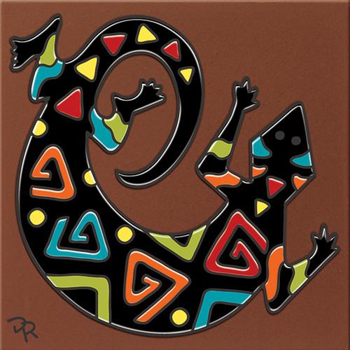 """6X6 Tile Southwest Gecko """"Naturals"""""""