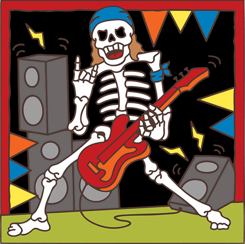 6x6 Tile Day of the Dead Guitar Rocker 7850A