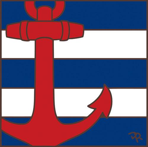 6x6 Tile Nautical Anchor 8078A