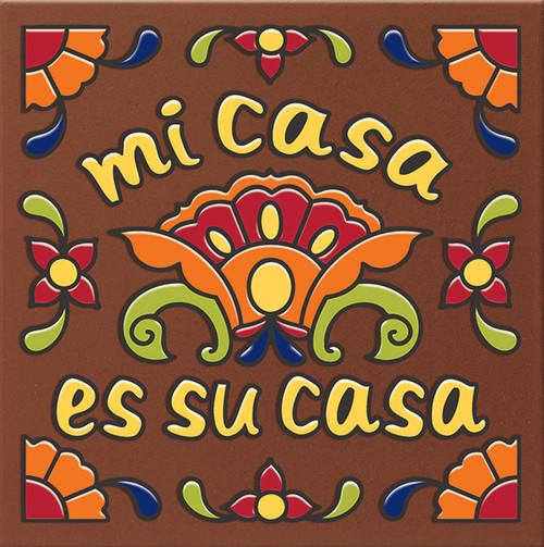 """6X6 Tile Talavera Mi Casa Es Su Casa """"Naturals"""""""
