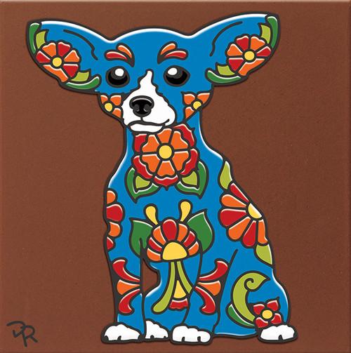"""6X6 Tile Talavera Chihuahua """"Naturals"""""""