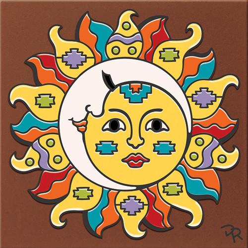"""6X6 Tile Southwest Sun/Moon """"Naturals"""""""