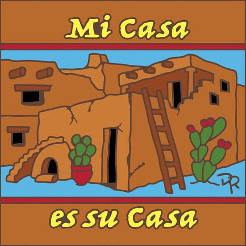 6x6 Tile Mi Casa Es Su Casa Terra Cotta