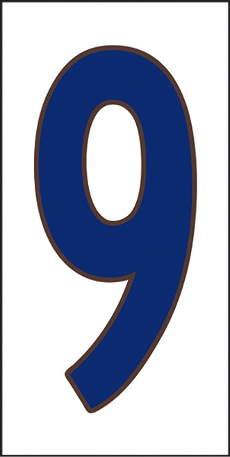 33X6 Number 9 White Background