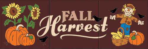 "6""x18"" Tile Sign Fall Harvest"