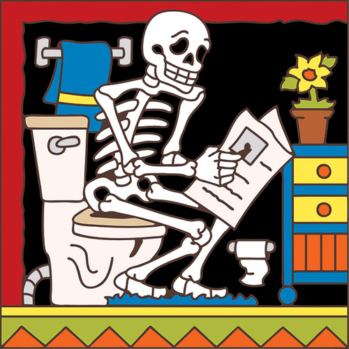 6x6 Tile Day of the Dead Head