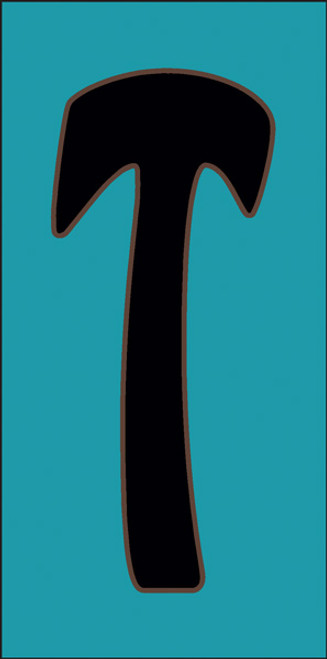 3x6 Tile House Letter T Turquoise