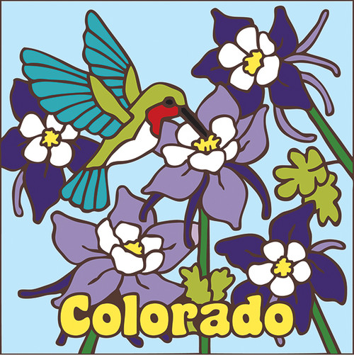 6x6 Tile Colorado Hummer & Columbine
