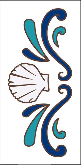 3x6 Tile Sea Shell Border White