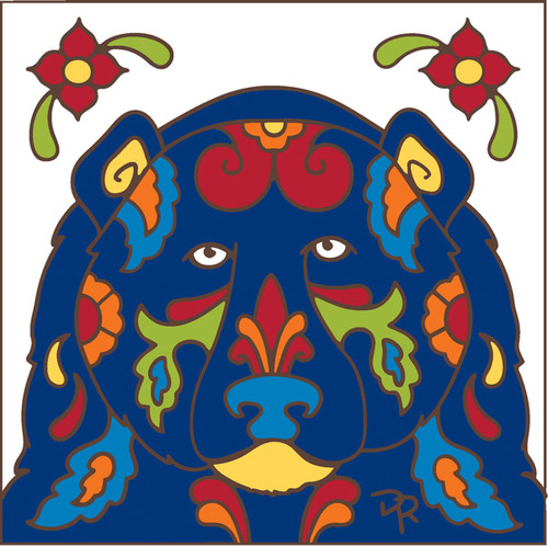 6x6 Tile Talavera Bear White