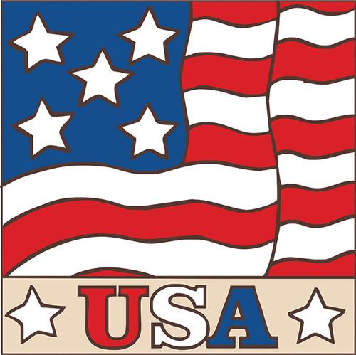 6x6 Tile USA Flag