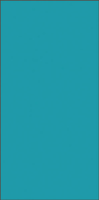 3x6 Tile House Letter Blank Turquoise