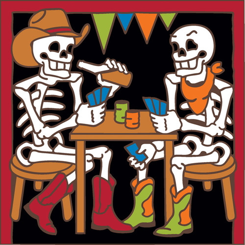 6x6 Tile Day of the Dead Saloon Card Game